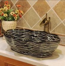 Jingdezhen art basin simple ceramic wash basin jingdezhen handmade rose flower shape ceramic porcelain counter top wash basin sink