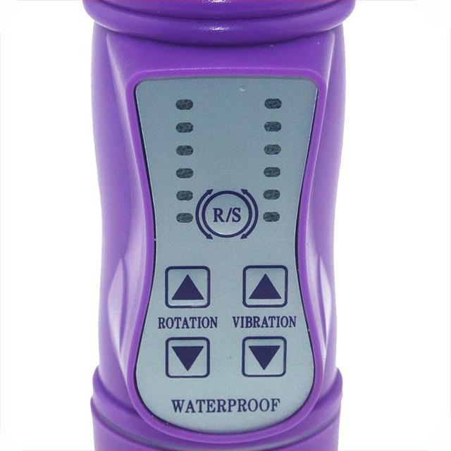 Jelly Head Rabbit Clitoral Vibrator G Spot Rotation Vibrador Waterproof sex products dildo Vibrator Vibrating Sex Toy For Women