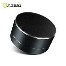 A10 New wireless Bluetooth speakers aluminum alloy band lights radio Mic TF card mini Portable Bluetooth magnetic subwoofer Bass