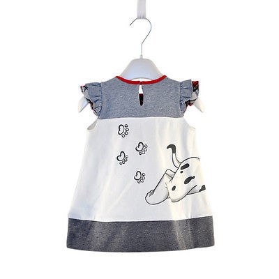 Dog print cute clothing for girls