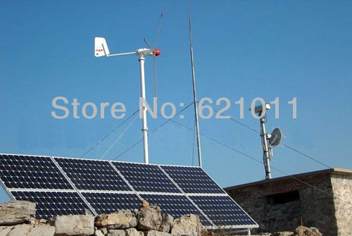 4.5KW solar & wind hybrid system, 3kw solar, 1.5 kw wind turbine, Hybrid energy system for good sunshine and rich wind area