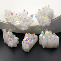 WT-G222 Wholesale High Quality Crystal Custers Amazing AB Color Electroplated Natural Crystal Quartz Cluster Stone Jewelry