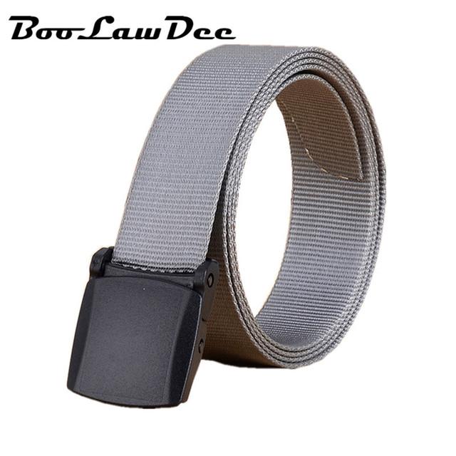 BooLawDee 2.5 cm ancho nylon lienzo de la pretina de 90 cm-125 cm súper ligero hebilla de plástico negro de color caqui gris marrón verde 8A005