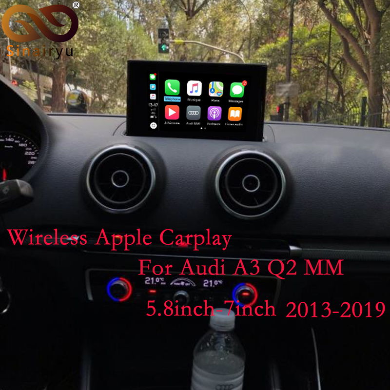 Sinairyu 2019 Wireless Apple Carplay AirPlay Solution for Audi A3 3G 3G MMI with Reverse Camera