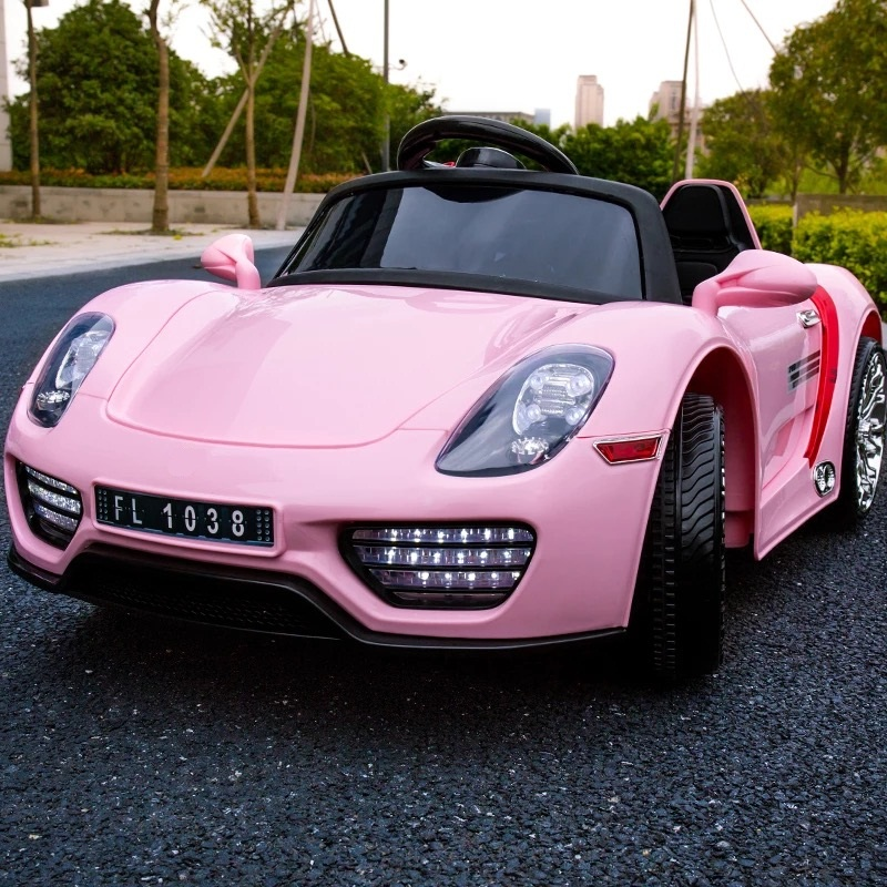 Vier Kinderen Elektrische Auto Baby Speelgoedauto Kinderwagen Kind
