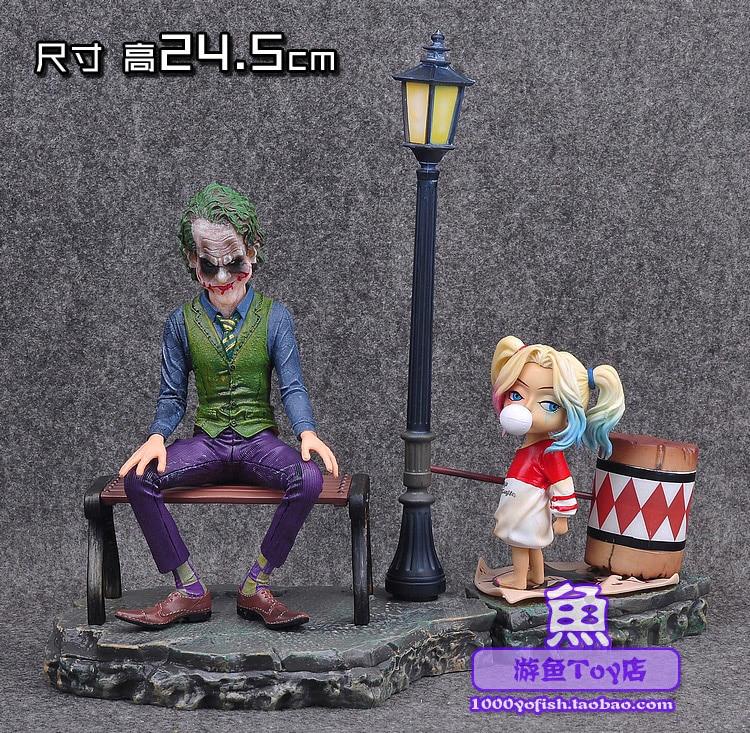 DC Comic Super Hero Film Statue Batman Suicide Squad villain The Joker Harleen Quinzel Harley Quinn Cute Figure Figurine все цены