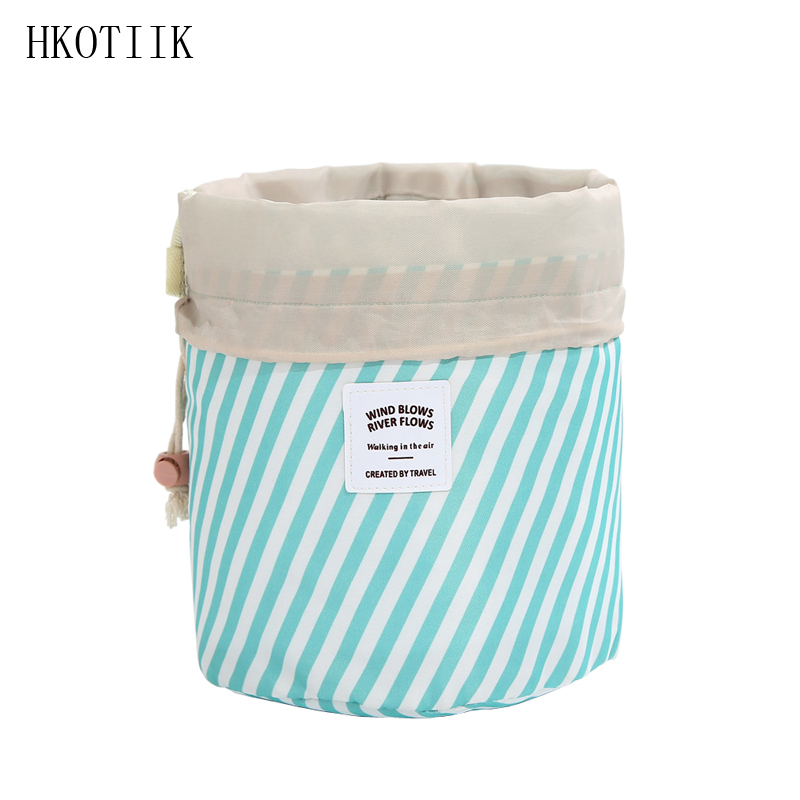 HKOTIIK Travel Organizer Ladies Cosmetic Bag beautician Essential High capacity Drawstring Storage Bags Girl Woman makeup bag