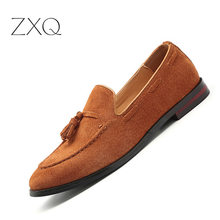 Men's Fashion Tassel Soft Moccasins Slip On Men Suede Leather Casual Loafers Daily Leisure Male Driving Flats Boat Shoes цены онлайн