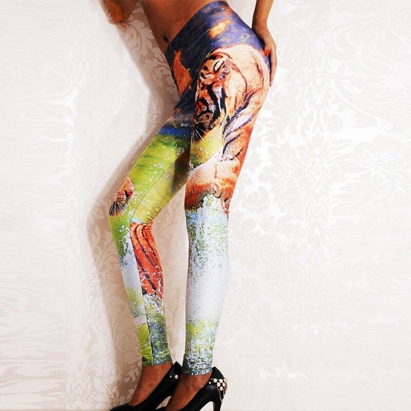 Sexy Women 3D Digital Printed Leggings Summer Spring Harajuku Fitness Women Leggings Creative Elastic Pants Drop Shipping WL029