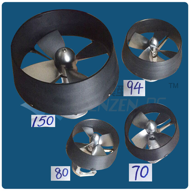 Dia 150mm 4 Blades Kort Nozzle Ducted Propeller Assembly