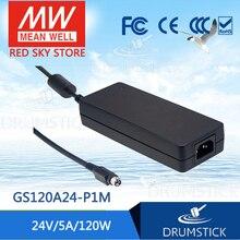 цена на [BS5B2] Selling Hot! MEAN WELL original GS120A24-P1M 24V 5A meanwell GS120A 24V 120W AC-DC Industrial Adaptor