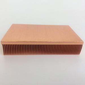 Image 2 - المصنع مباشرة توريد 100x50x15 مللي متر النحاس النقي بالوعة الحرارة Cu1100 سكيفينج مشتت حراري بفواصل
