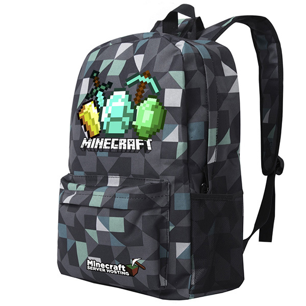 Teenagers Minecraft 3d Backpack Children School Bags Game Night Glowing Backpacks Sac A Main Rucksacks For