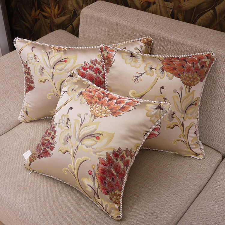 Sofa Cushions Covers Designer Cushion Red Chair Seat 45x45cm Free Shipping In Cover From Home Garden On