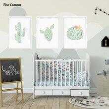 Nordischen Stil Kinder Dekoration Mädchen Kinderzimmer Poster Und Drucke  Wand Bild Für Wohnzimmer Wandkunst Leinwanddruck Kaktus