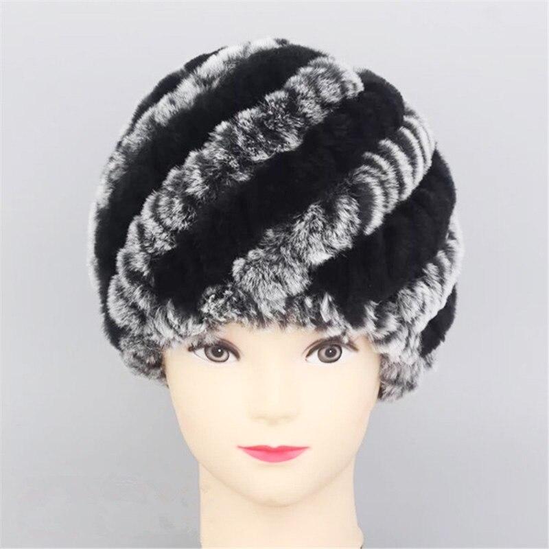 Genuine Rabbit Point Rex Women's Hats Fur Jacket Natural Fur Rabbit Rex 2017 Headwear Hot Selling Free Shipping