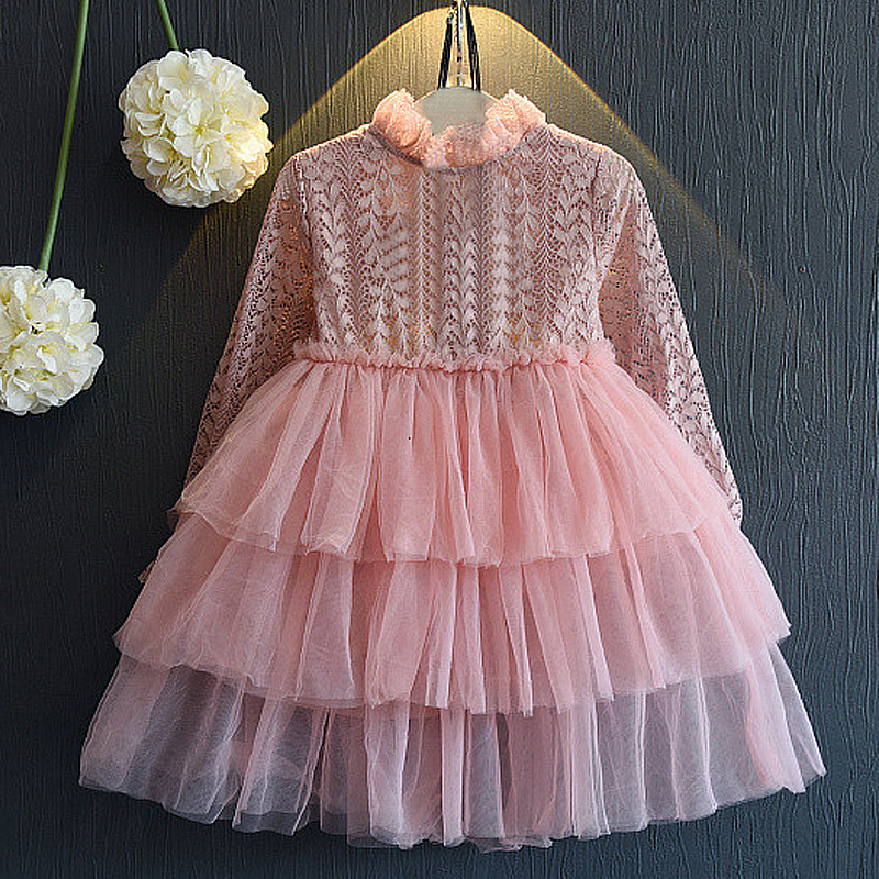 New Year Children Clothing Baby Girls Party Dresses Long Sleeve ...