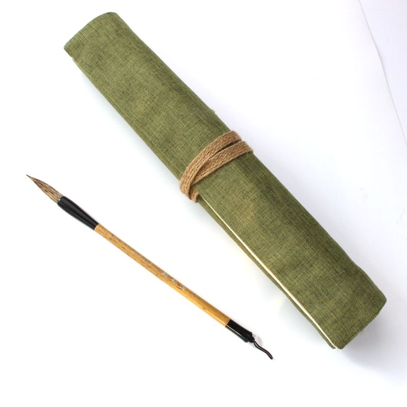 Free shipping Hot Holes Canvas Wrap Roll up Pencil Case Pen Bag Holder Storage Pouch New striped wrap pencil bag