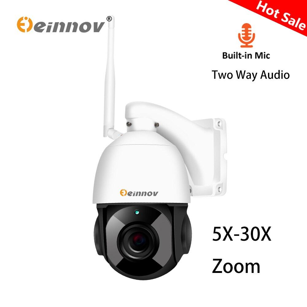 Einnov двухстороннее Aduio 1080 P PTZ IP камера Wi Fi Открытый Onvif 30X 5X зум 4,5 дюймов Большой скоростные купольные камеры 2MP CCTV охранная камера