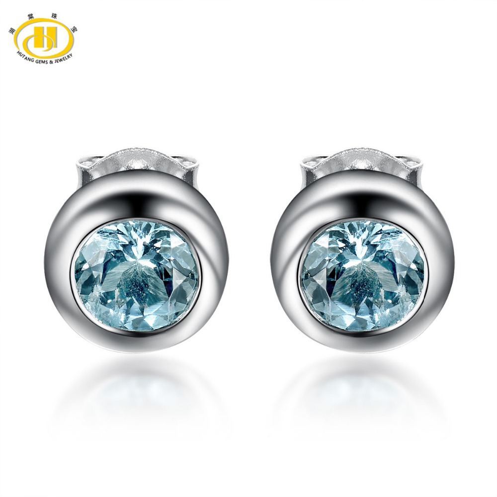 aquamarinewhite bloomingdales lyst women aqua designer bloomingdale earrings jewelry in aquamarine stud marine s white gold