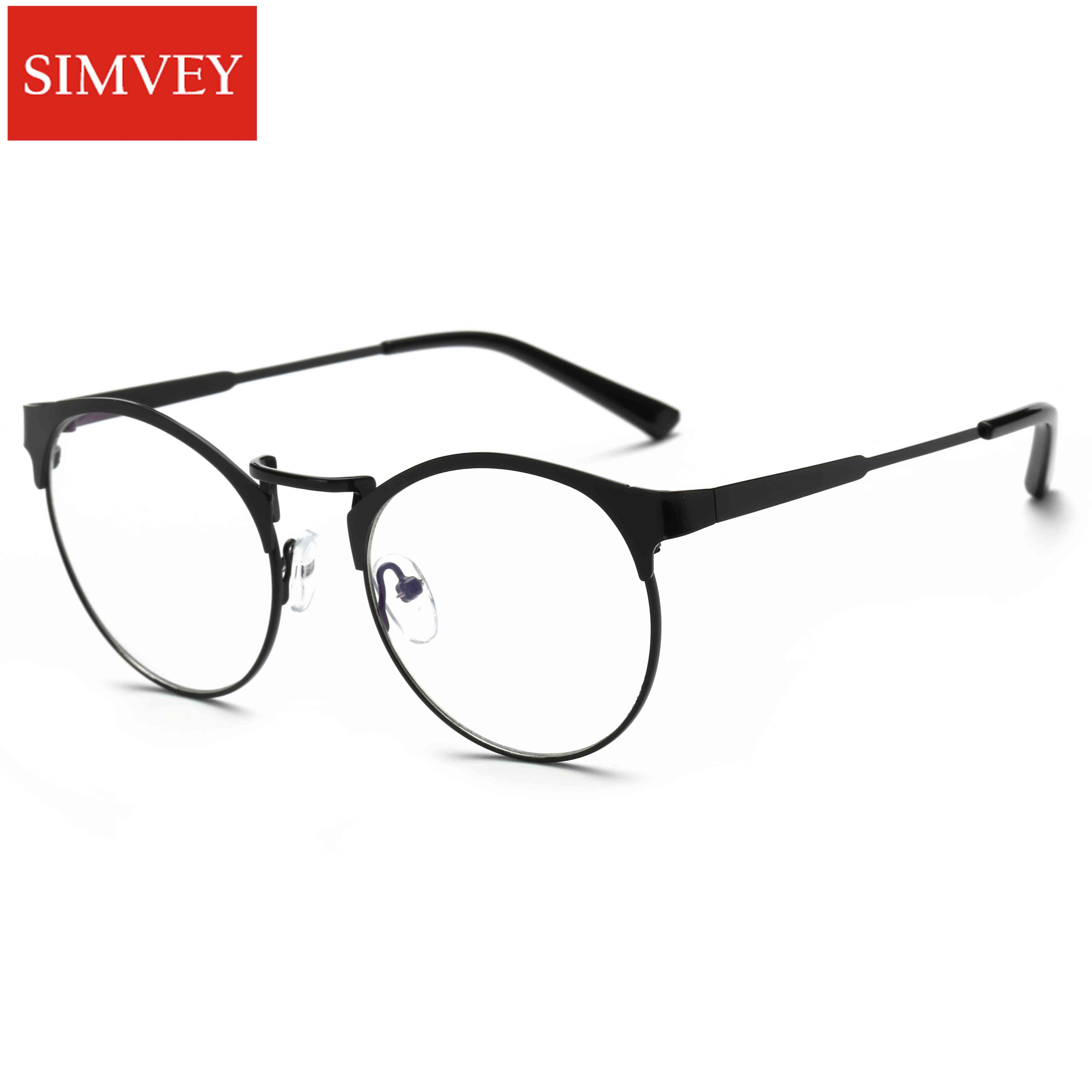 Simvey 2017 New Fashion Women Mens Computer Goggles Retro Metal Blue Light Blocking Glasses Round Gaming Glasses UV400