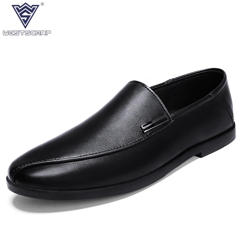 2018 New Men Shoes Genuine Leather Loafer Comfortable Soft Driving Shoes Casual Male Spring Autumn Sapato Size 38-44