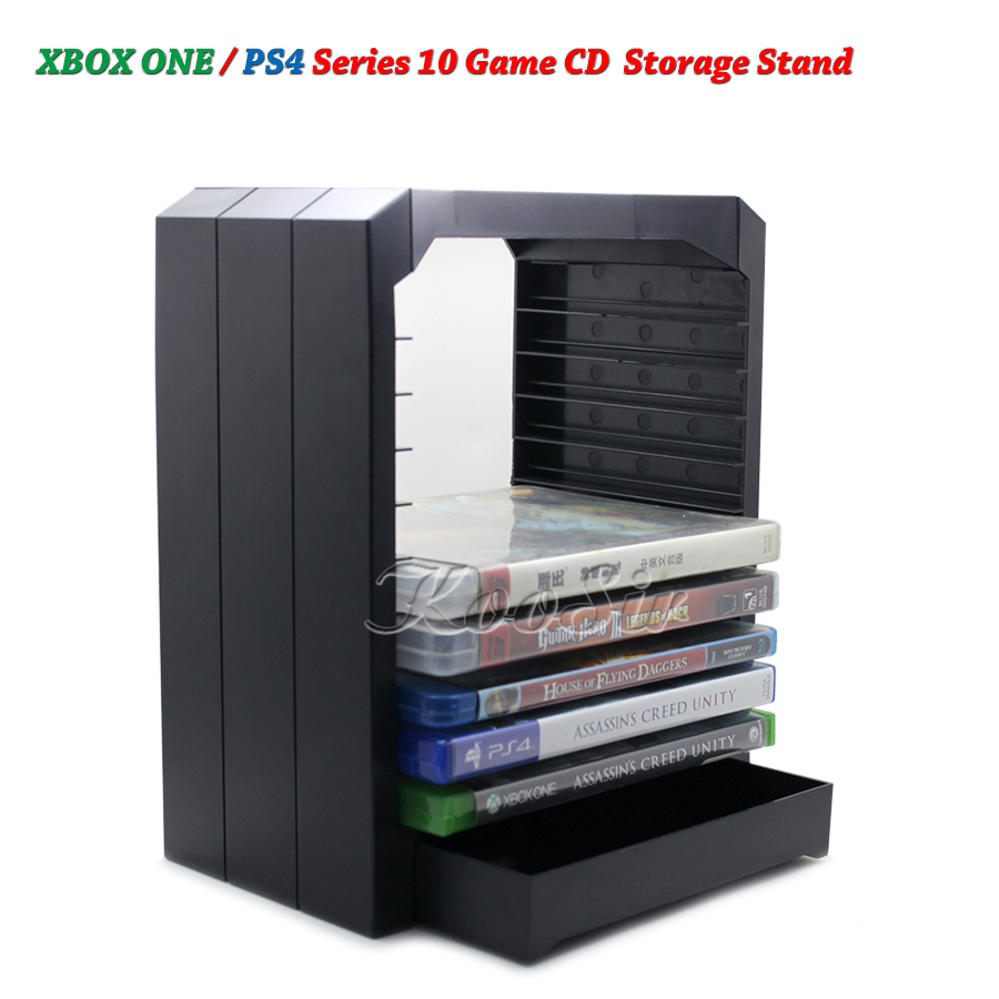 PS4 Slim Pro Games Discs Storage Stand Showcase Tower PS Play Station 4 Game CD Holder Bracket for Xbox ONE/ Xbox 360 Disk image