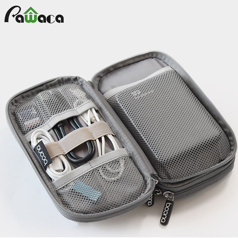 Travel Gadget Organizer Bag Portable Digital Cable Bag Electronics Accessories Storage Carrying Case Pouch For USB Power Bank