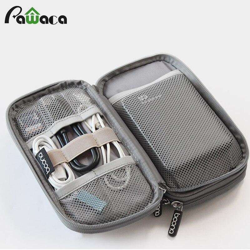Voyage Gadget Organisateur Sac Portable numérique câble sac Électronique Accessoires De Stockage Sacoche Housse pour la Banque d'alimentation USB