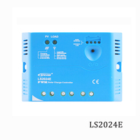 LS2024E 20A 12V 24V Solar Charge Controller Epsolar Landstar PWM PV 100W 200W 18V Solar Panels charger Regulators