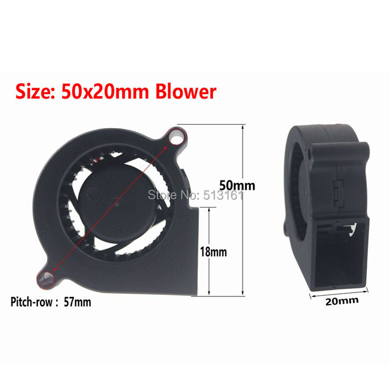 Купить с кэшбэком 5Pcs Gdstime 5020 Mini 5V DC Brushless Electric Blower Cooling Fan 2 Wires 50mmx20mm