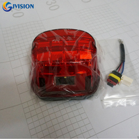 Harley Accessories Layback LED Tail Lights Smoked / Red Lens Led License Plate Lamp Tail Light For Harley Touring Dyna