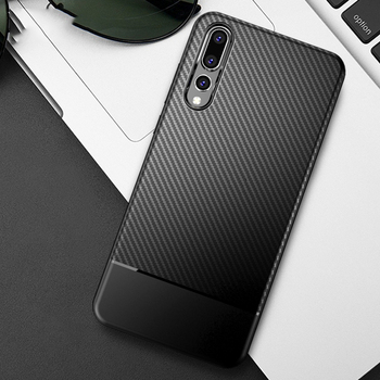 Carbon fiber ultra thin huawei p20 pro case back cover heavy protection 1