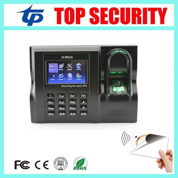 Biometric fingerprint time attendance terminal with 13 56mhz MF card reader web based linux system fingerprint
