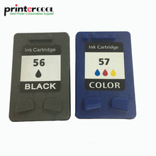 einkshop 56 57 Refilled Ink Cartridge Replacement for HP Deskjet 450CI 5550 5552 7150 7350 7000 2100 220 Printer