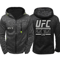 2019 New Spring Fashion venom UFC Unlimited MMA Hoodie Men Zipper Cardigan Hoodie Sweatshirts Casual Coat Tops