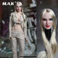 """1/6 Scale Suicide Squad SET018-B Female Joker Head Sculpt& Prison Clothes Set For 12"""" Action Figure Toys Accessories"""