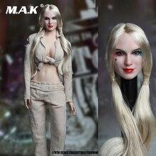 цена на 1/6 Scale Suicide Squad SET018-B Female Joker Head Sculpt& Prison Clothes Set For 12