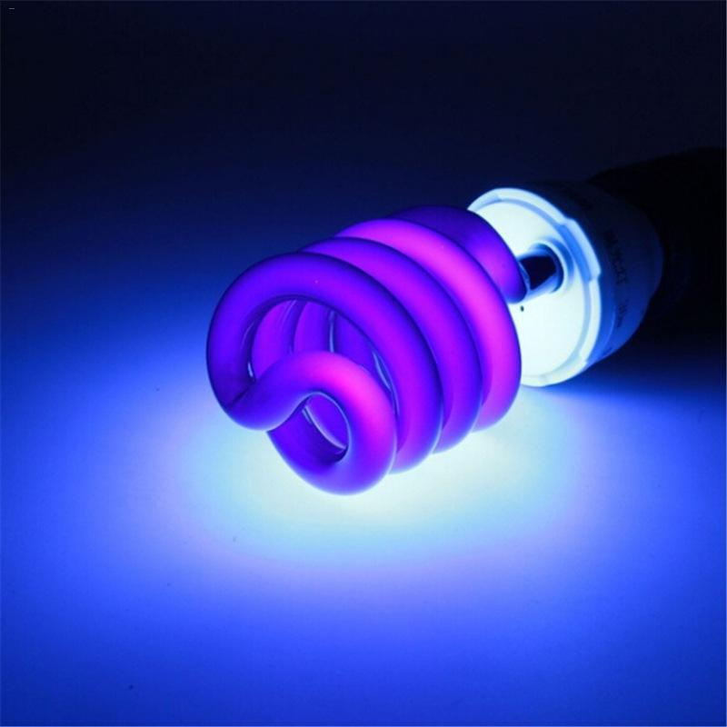 30W/40W AC220V E27 Energy Saving UV Stage Sprial Lamp Light Bulb Black Light  UV Purple Light Colorful Package