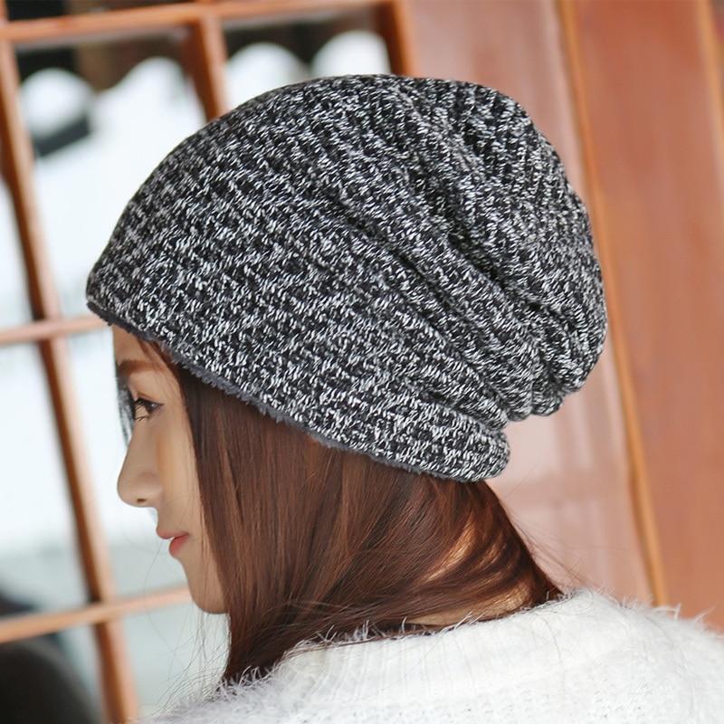 Sombrero de invierno Gorros de piel de punto Gorras cálidas Skullies - Accesorios para la ropa - foto 6