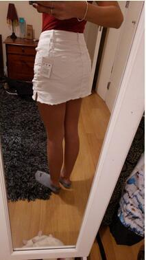 White Jeans Skirts 3