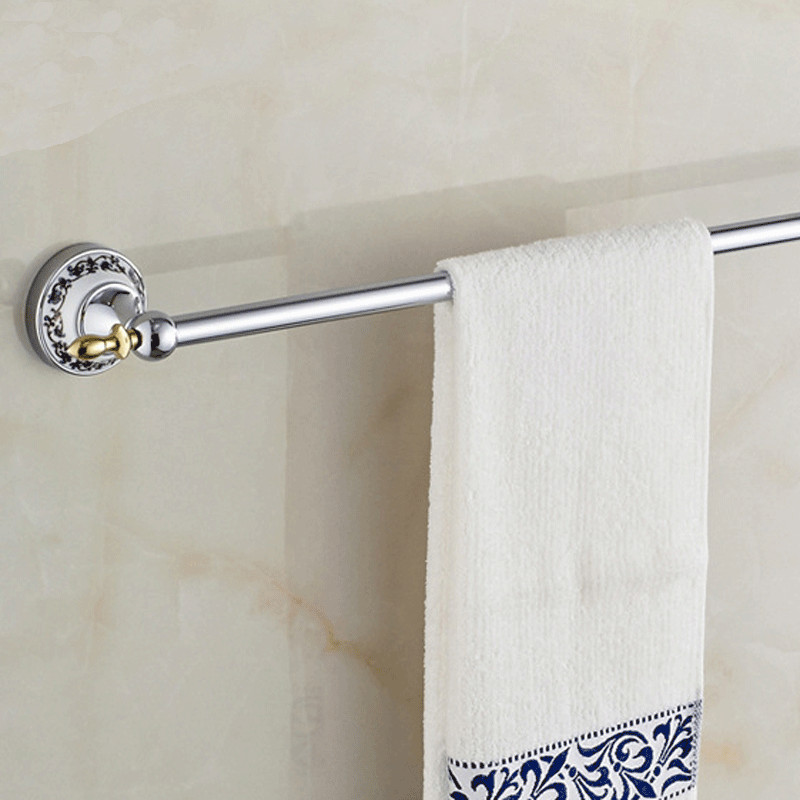 Towel Bars Singer 60cm Chrome Matel Towel Shelf Hanger Holder Wall Mounted  Luxury Ceramic Bathroom Accessories Towel Rack ST 671 In Towel Bars From  Home ...