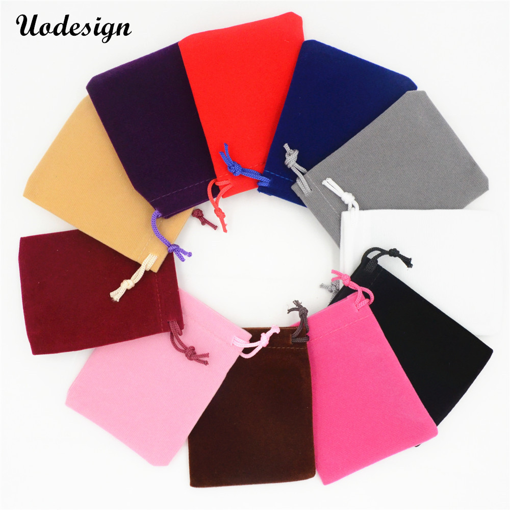 10pcs 5*7cm 7*9cm 9*12cm Velvet Gift Pouch Jewelry Packaging Drawstring Bag Stud Earring Ring Cufflink Watch Storage Wholesale