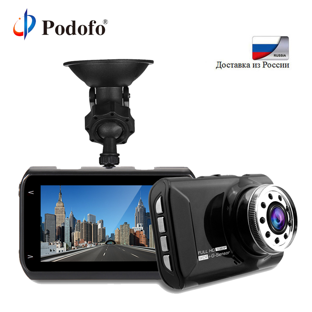 Podofo 3 Car DVR Dash Camera Novatek 96223 Full HD 1080P Video Recorder Camcorder Motion Detection Loop Recording Registrator e ace car dvr original novatek 96223 mini camera full hd 1080p digital video recorder dash camcorder auto registrator dashcam