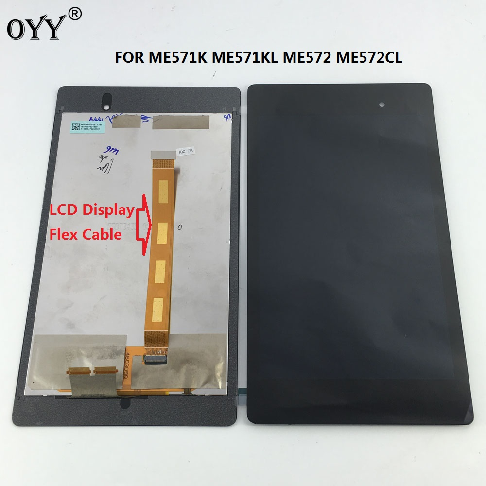 LCD Display Touch Screen Digitizer Glass Assembly For Google nexus7 2nd ME571 ME571K ME571KL ME572CL K008 K009 free Flex Cable lcd display screen panel monitor touch screen digitizer glass for asus google nexus 7 1st gen nexus7 2012 me370 me370t me370tg