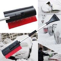 Multifunctional Outdoor 3 In 1 Extendable Telescoping Car Ice Scraper Shovel Ergonomic Design Snow Brush Clean