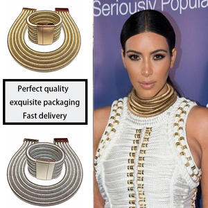 Jewelry-Set Bracelet Kim Kardashian Statement Women African Choker Bohemia Fashion
