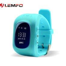 LEMFO Q50 Crianças Relógios Inteligentes Relógio Rastreador GPS Location Finder Anti-lost Kid Safe Relógio Inteligente Monitor de relógio de Pulso Do Bebê