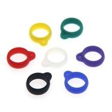 100pcs 13mm Silicone Lanyard Vape Ring DIY Protective for 13mm-25mm Juu Relx POD Ecig Vaporizer Atomizer vape