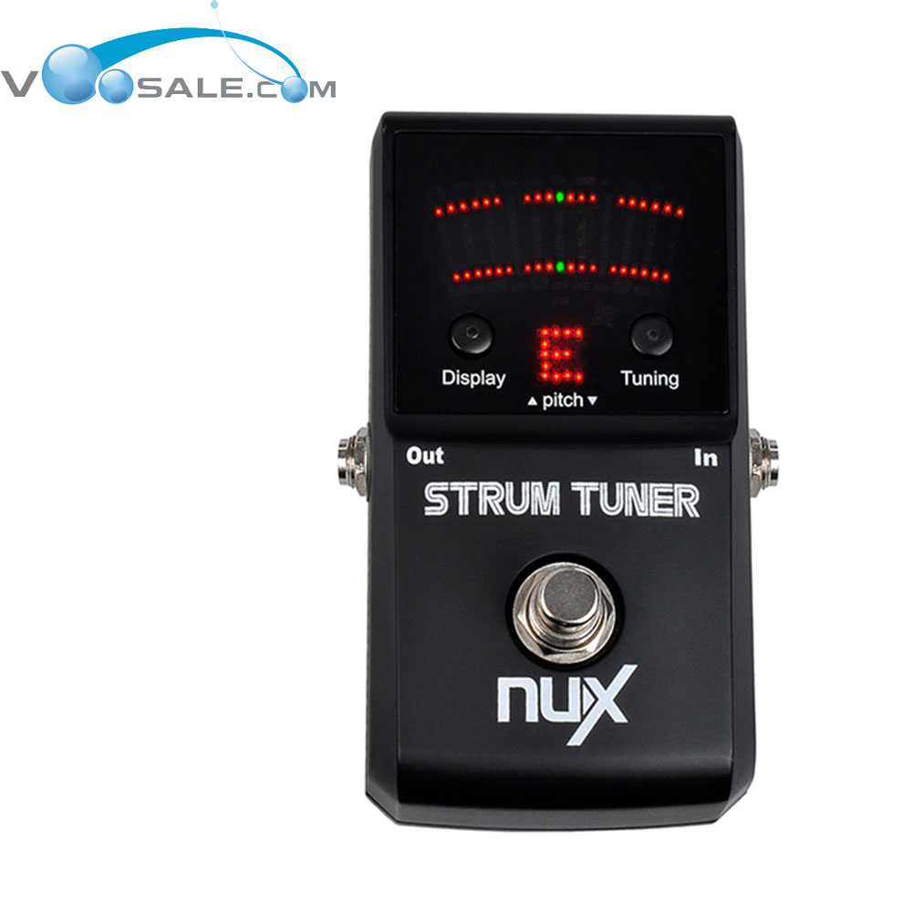 nux strum tuner guitar effect pedal multi string guitar and bass pedal tuner led matrix display. Black Bedroom Furniture Sets. Home Design Ideas